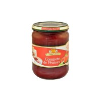 Compote traditionnelle Fraise 560 g, compote de fruits de provence