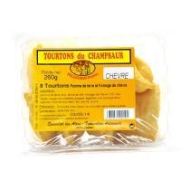 Barquette de 8 Tourtons cuits au Fromage de chèvre. Les Tourtons sont une spécialité de la vallée du Champsaur.