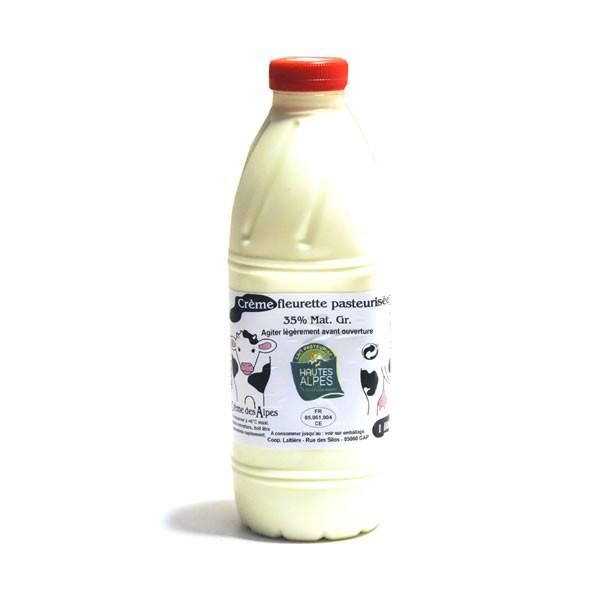 Creme Fleurette Pasteurisee 1 L 35 Mg Cooperative Laitiere Des