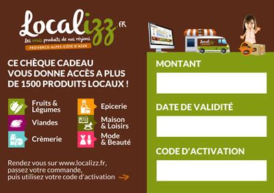 Chèque cadeaux produits locaux 100% made in Provence