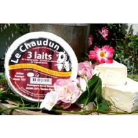 Chaundun 3 laits 300 gr Onctuositédulaitdebrebis,piquantdulaitdechèvreetmoelleuxdulaitdevachefontdecefromageun fromage unique
