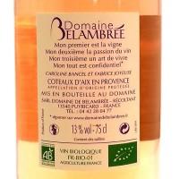 Vin Rosé Bio Cuvée les Ephémères AOC 2013 75 cl