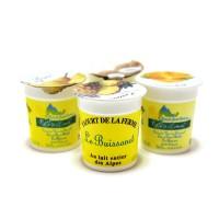 Yaourt aromatisé Panachés au lait Entier Pack 4x125 gr. Caramel , ananas , poire , noix de coco