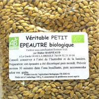 Petit épeautre BIO des Alpes de Hautes Provence en poche de 500gr