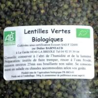 Lentilles BIO Alpes de Hautes Provence 500gr