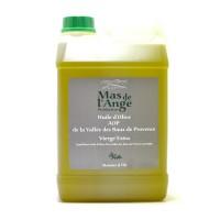 Huile d'Olive Vierge Extra Arome Fruité Vert Bidon 3L. Huile d'olive AOP de vallée des Baux de Provence.