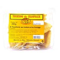 Barquette de 8 Tourtons cuits Dauphinois (façon tartiflette). Les Tourtons sont une spécialité de la vallée du Champsaur.
