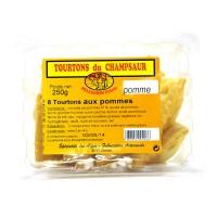 Barquette de 8 Tourtons cuits à la Pomme. Spécialité de la vallée du Champsaur dans les Hautes-Alpes