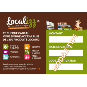 Cheque Cadeau Produits Locaux 30 euros