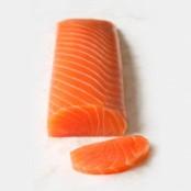Coeur de saumon fumé nature sous vide, 200gr environ