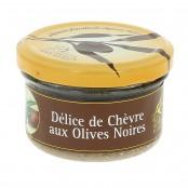Délice de Chèvre aux Olives Noires - 90 g