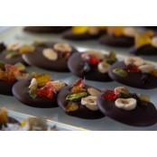 Mendiants chocolat noir, sachet de 6 pièces