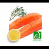 Pavé de saumon BIO cru mariné au thym et au citron, sous vide, 150gr environ